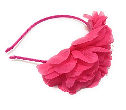 Chicky Chicky Bling Bling Girls Hot Pink Fairy Flower Luau Headband Womens Hot - Girl Dolly Fashion Reviews