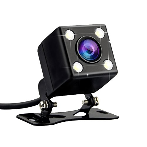 AZDOME Car Rear View Backup Camera - 2.5mm (4 Pin) 170 Viewing Angle 640480 Pixel with 4 LED, Night Vision, IPX67 Waterproof for Dash Cam DVR Video Vehicle Recorder WR01
