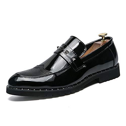 Xujw-shoes, 2018 Scarpe Stringate Basse Scarpe da uomo brogue in pelle da uomo casual in vernice casual di personalit