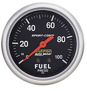 Auto Meter 3412 Sport-Comp Mechanical Fuel Pressure Gauge