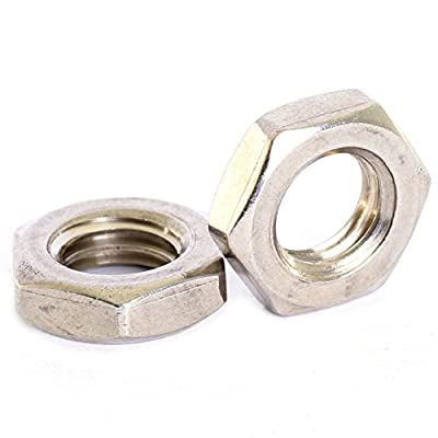 Bolt Base A2 Stainless Steel Half Lock Nuts Jam Nuts M2 X 0.4mm Pitch