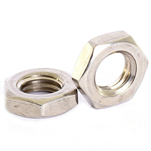 Bolt Base A2 Stainless Steel Half Lock Nuts Jam Nuts M6 X 1.0mm Pitch - 10 (10 Jam Mm Nut)