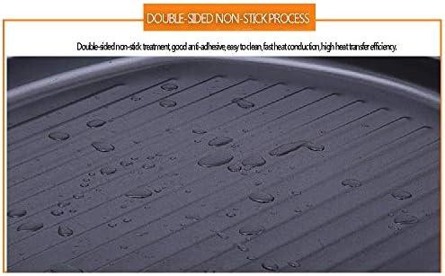 YFWDY Poêles à Frire Antiadhésives Poêles à Frire Pan Matériel De Fonte, Durable Et Pliable, Rayures épaisses, Plateau De Barbecue Carré Cuisine Extérieure