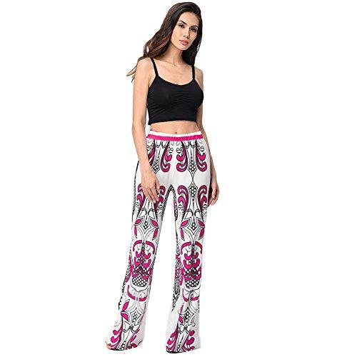 Moshow Femmes Pantalon à larges jambes Pantalons décontractés Travel Gym