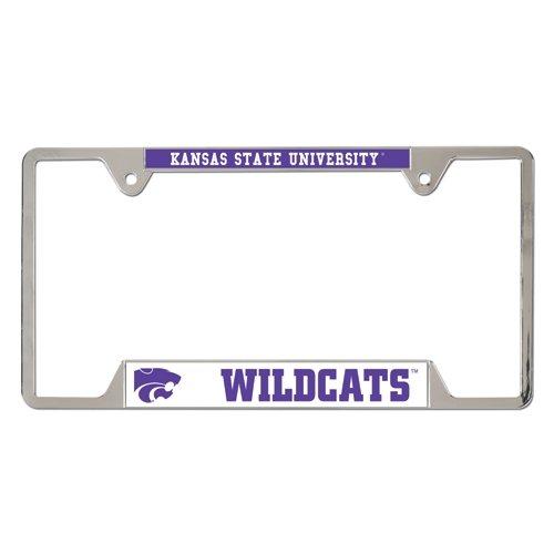 NCAA Kansas State University Metal License Plate Frame (License Plate Frame Kansas State compare prices)