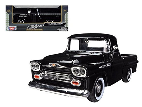 showcasts-1958-chevy-apache-fleetside-pickup-truck-1-24-scale-diecast-model-car-light-blue