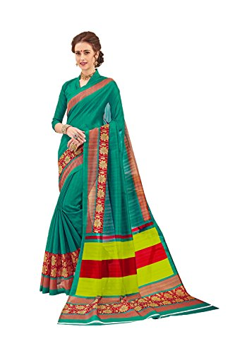 Dessa Collections Indian Sarees For Women Wedding Teal Designer Party Wear Traditional Sari by Dessa Collections