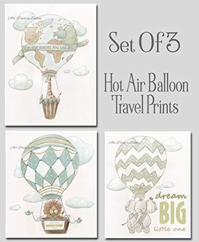 hot air balloon baby bedding - 8