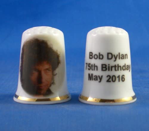 Bob Dylan 75th Birthday Birchcroft Porcelain China Collectable Thimble