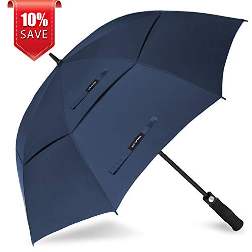 ZOMAKE Golf Umbrella Windproof Large 68 inch Double Canopy Automatic Open Umbrella for Men – Vented Sun Umbrella – Stick Umbrellas Review