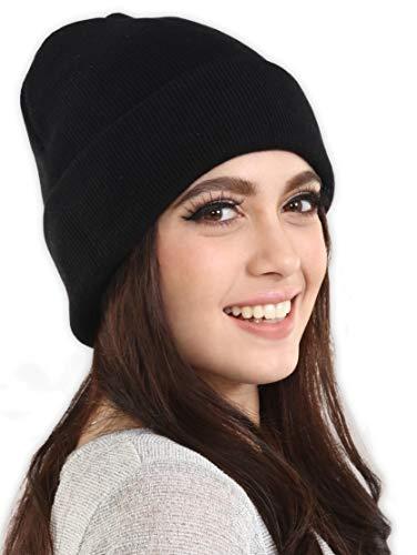 97ca06478 Tough Headwear Cuff Beanie Watch Cap - Warm, Stretchy & Soft Knit ...