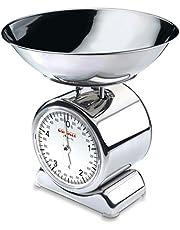 Soehnle Silvia Bilancia da Cucina in Acciaio inox con piatto removibile, Bilancia Pesa Alimenti a Vista con 5kg Portata max, Bilancia Analogica Design