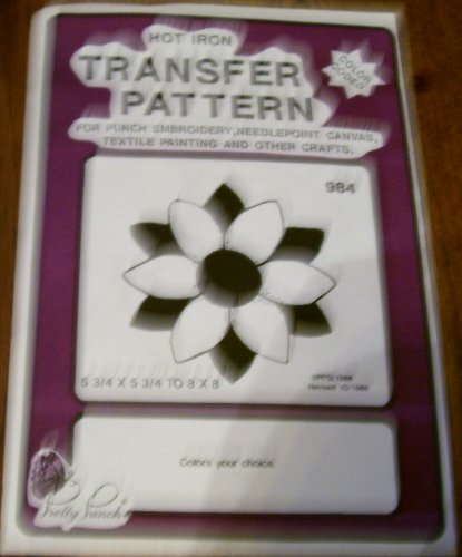 (Hot Iron Transfer Pattern #984 Sunflower (For Punch Embroidery, Needlepoint Canvas, Textile Painting & Other Crafts))