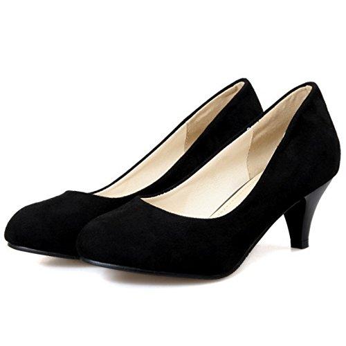 Mode Escarpin Talon Femme Chaussures A Soiree Escarpins Enfiler Noir Coolcept Bas 5X60qwX