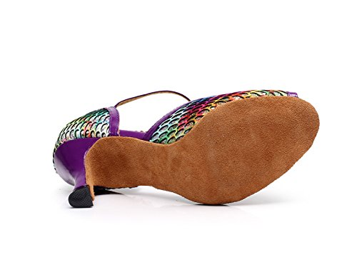 Tacones Purple Baile De Para Tango Mujer UK7 Our42 Sandalias Zapatos heeled7 Altos Dance Zapatos De Fiesta 5cm Salsa EU41 Latino JSHOE ZFq1OO