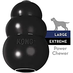 KONG - Extreme Dog Toy - Toughest Natural Rubber, Black - Fun to Chew, Chase and Fetch - for Large Dogs