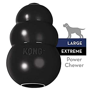 KONG – Extreme Dog Toy – Toughest Natural Rubber, Black – Fun to Chew, Chase and Fetch