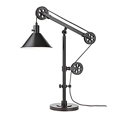 Adjustable Arm and Steel Shade, Bronze Finish Pulley Table Lamp Includes (1) 5-watt LED Buld