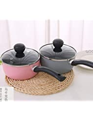 XIMIVOGUE Milk Pan, Mini Butter Warmer 10cm Enamelware Saucepan Pan Cookware with Silicone Handle,