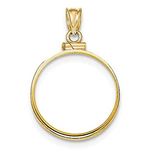 (14K Yellow Gold Screw Top $5 Coin Holder Bezel (Coin Not Included))