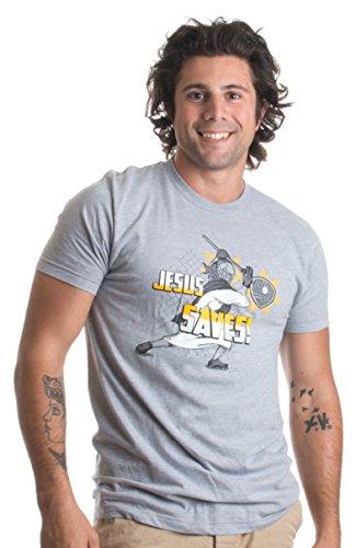 Jesus Saves Lacrosse Goalie | Funny Christian Lax Humor Joke Unisex T-shirt