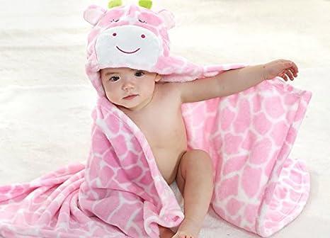 Feelme Robe de Chambre Polaire Enfant Peignoir Sortie de Bain /à Capuche Animaux pour B/éb/é Cape de Bain Flanelle Microfibre