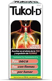Tukol-D JARABE PARA LA TOS, Adulto, ayuda a descongestionar el pecho y expulsar la tos sea o con flemas a part