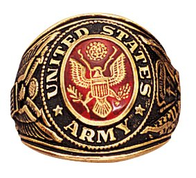 Rothco Deluxe Army Military Ring, 9 Size (Army Military Ring)