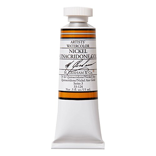 M. Graham 1/2-Ounce Tube Watercolor Paint, Nickel Quinacridone (Gold 1/2 Oz Tube)