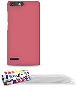 MUZZANO F869224 - Funda para Huawei Ascend G6, incluye 3 protecciones de pantalla, color rosa