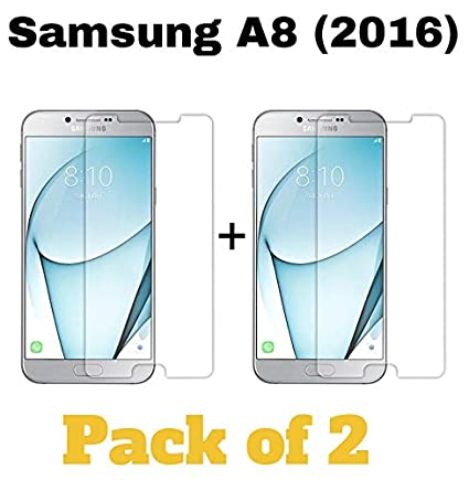 M.G.R.J Pro HD+ Tempered Glass for Samsung Galaxy A8  2016    Pack of 2 Screen guards
