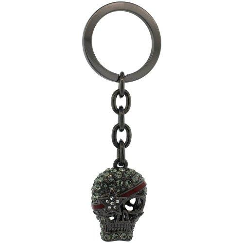Amazon.com: Pirata Cráneo Cadena de clave, llavero, llavero ...