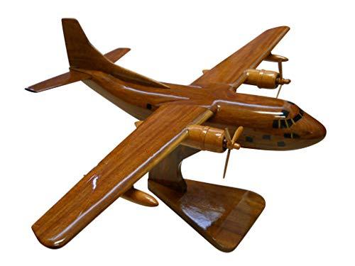 Provider Aircraft Usaf - Fairchild C-123 Provider Mahogany Wood Desktop Airplane Model