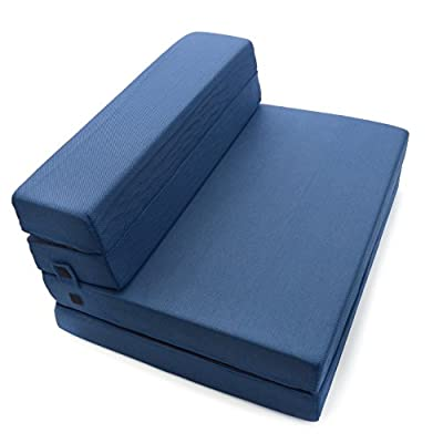 Milliard Tri-Fold Foam Folding Mattress and Sofa Bed for Guests or Floor Mat - Twin XL 78x38x4½