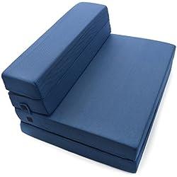 Milliard Tri-Fold Foam Folding Mattress and Sofa Bed for Guests or Floor Mat - Twin XL 78x38x4.5 Inch