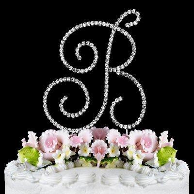 RENAISSANCE MONOGRAM WEDDING CAKE TOPPER LARGE LETTER B by Other