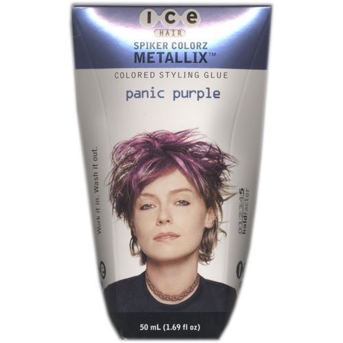 Joico Ice Spiker Colorz Metallix Styling Glue - Panic Purple Women Glue, 1.69 Ounce by Joico