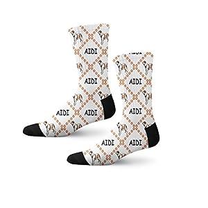 Funny Mens Socks Aidi Dog Paws Polyester Crazy Socks Womens 26
