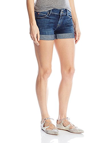 Hudson Jeans Women's Croxley Mid Thigh Rolled Flap Pocket Short, Evasion, 29
