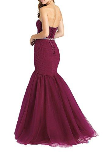 Tulle Sequins Prom Women's Dresses Evening DKBridal Burgundy Gown Mermaid Long Sweetheart nwapqnWBA