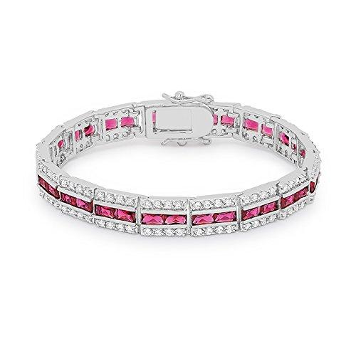 ISADY - Mérédith Rouge - Bracelet - Oxyde de zirconium rouge