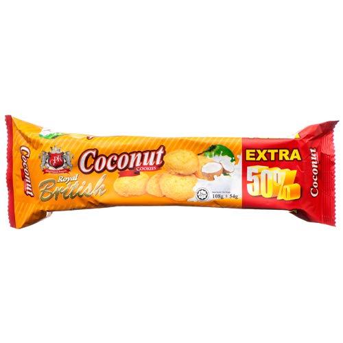 Dollaritem 374982 Wholesale Royal British Coconut Cookies 5.7Z X