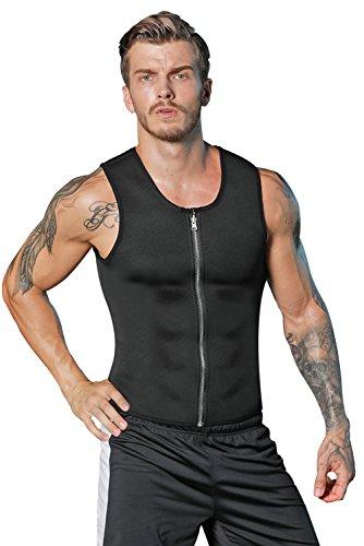 caaaa282b4 Galleon - Men Neoprene Slimming Vest Waist Trainer Corset Hot Body Shaper  Workout Tank Top Shirt For Weight Loss Sweat Suits Tummy Fat Burner