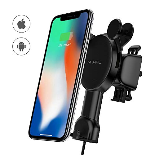 NANFU Wireless Car Charger Mount Compatible with iPhone Xs Max/Xs/XR/X/ 8/8P Only $16.89