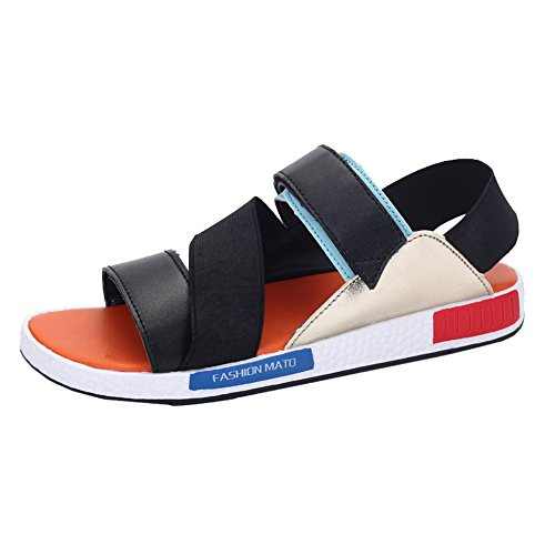 Open Sandals amp;W H Strap Mens Toe Orange Ankle Outdoor Summer Fashion wdTn0AXq7