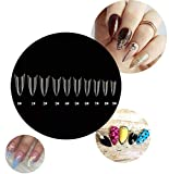 Kissbuty 500 PCS Stiletto Nails Clear Color Sharp