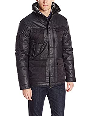 Calvin Klein Jeans Men's Coated Puffer Jacket