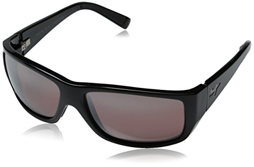 Maui Jim WASSUP Gloss Black / Maui Rose Sunglasses - Men Maui Best Jim Sunglasses For
