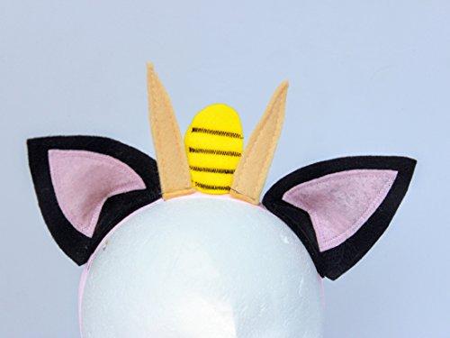 Pokemon headband - Meowth headband - Meowth ears and Whiskers headband
