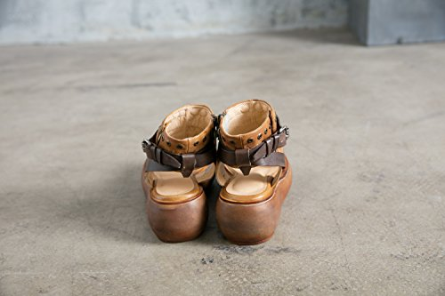 NBWE Haut de Gamme Vintage Sandales en Cuir Pantoufles Platform Chaussures Open Toe Rome Chaussures Wraps Business Casual Office Mode Yellow o3axj